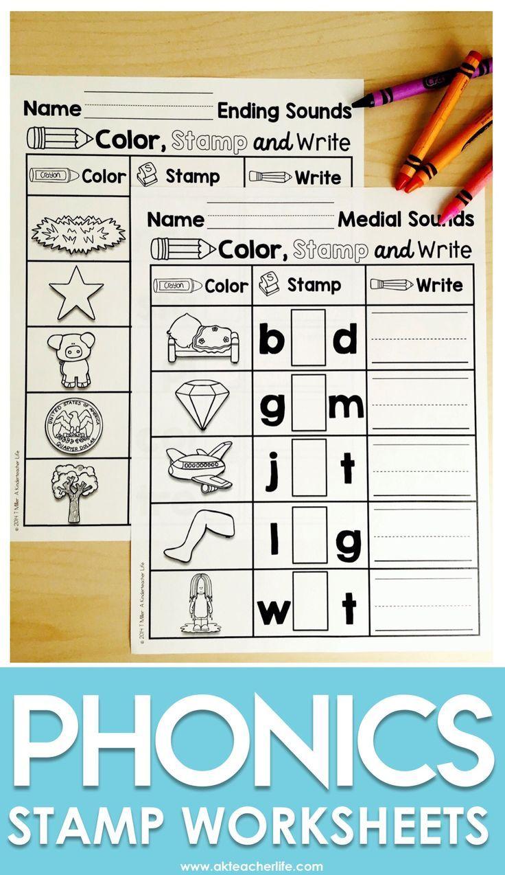 Stamp Center Literacy Center Worksheet Activities Writing Center Kindergarten Medial Sounds Worksheets Medial Sounds [ 1274 x 736 Pixel ]