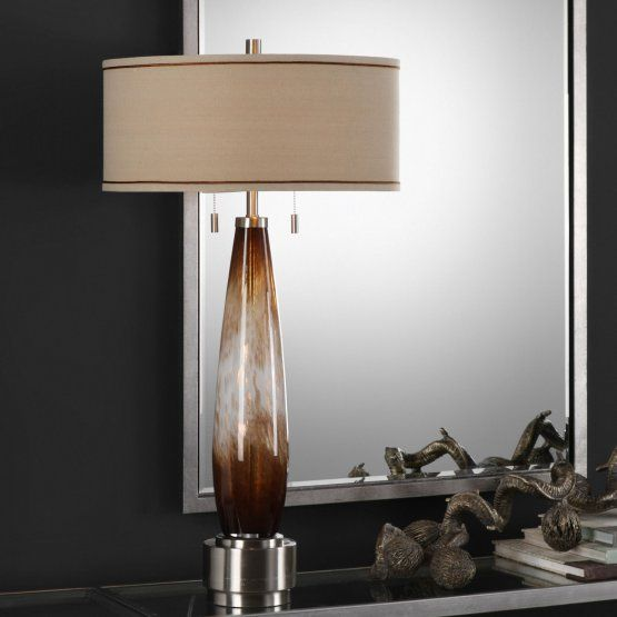 Uttermost Garonne Amber Amp Ivory Table Lamp With Images