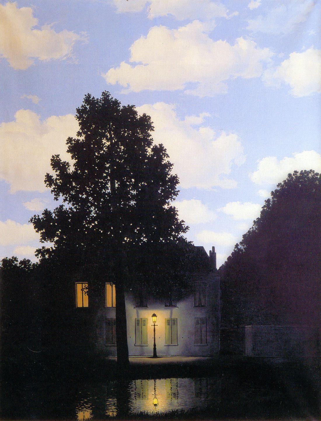 Rene Magritte The Empire Of Light 風景画 マグリット 美しい絵画