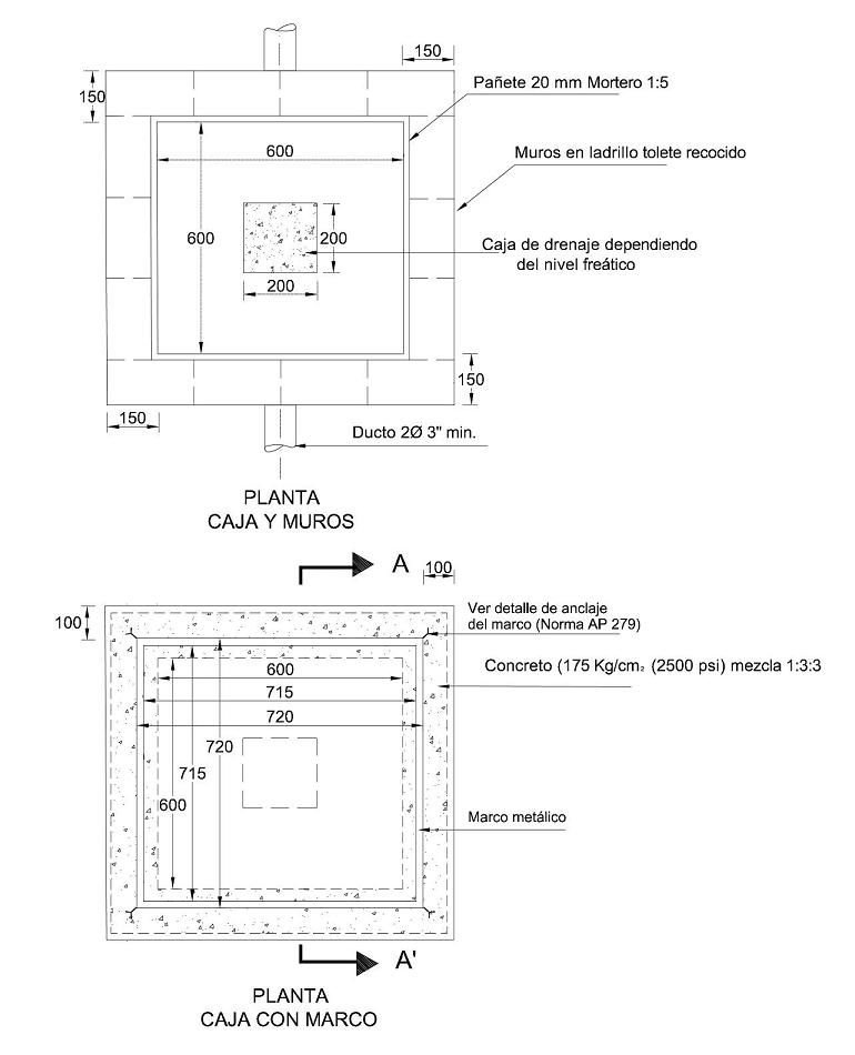 Caja De Inspeccion Para Alumbrado Publico Planta Alumbrado Publico Cajas Canalizaciones Electricas