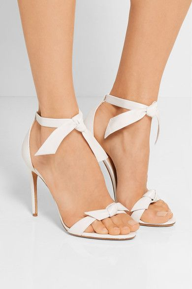 Heel measures Tie approximately 100mmnches White leather Tie measures ad318c