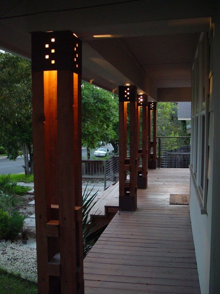 Contemporary Columns Attractive Design Modern Design Exterior With