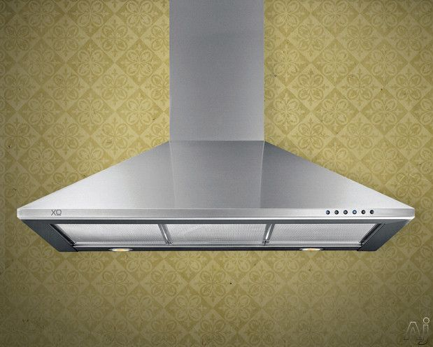 Range hood for my new kitchen--maybe? XO XOB24S Wall Mount Chimney Range Hood with 600 CFM Internal Blower, 3 Speed Control, Halogen Lights, Electronic Controls and Convertible to Recirculating: 24 Inch Stainless Steel