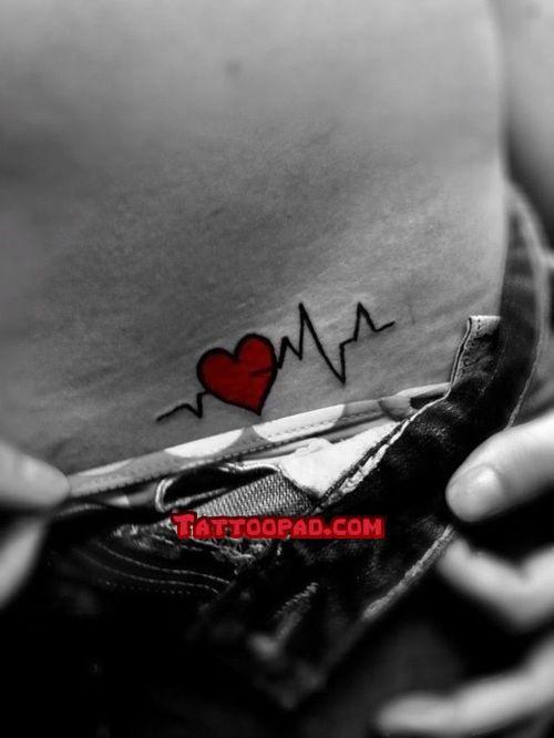 7af32ffc1 heart tattoo designs, heart beat tattoos and heart beats. #tattoo #tattoos # ink