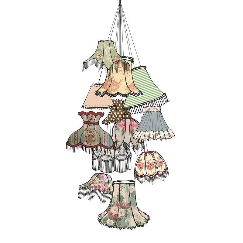 Chandelier Lampshade: Resultado de imagem para lampshade illustration,Lighting