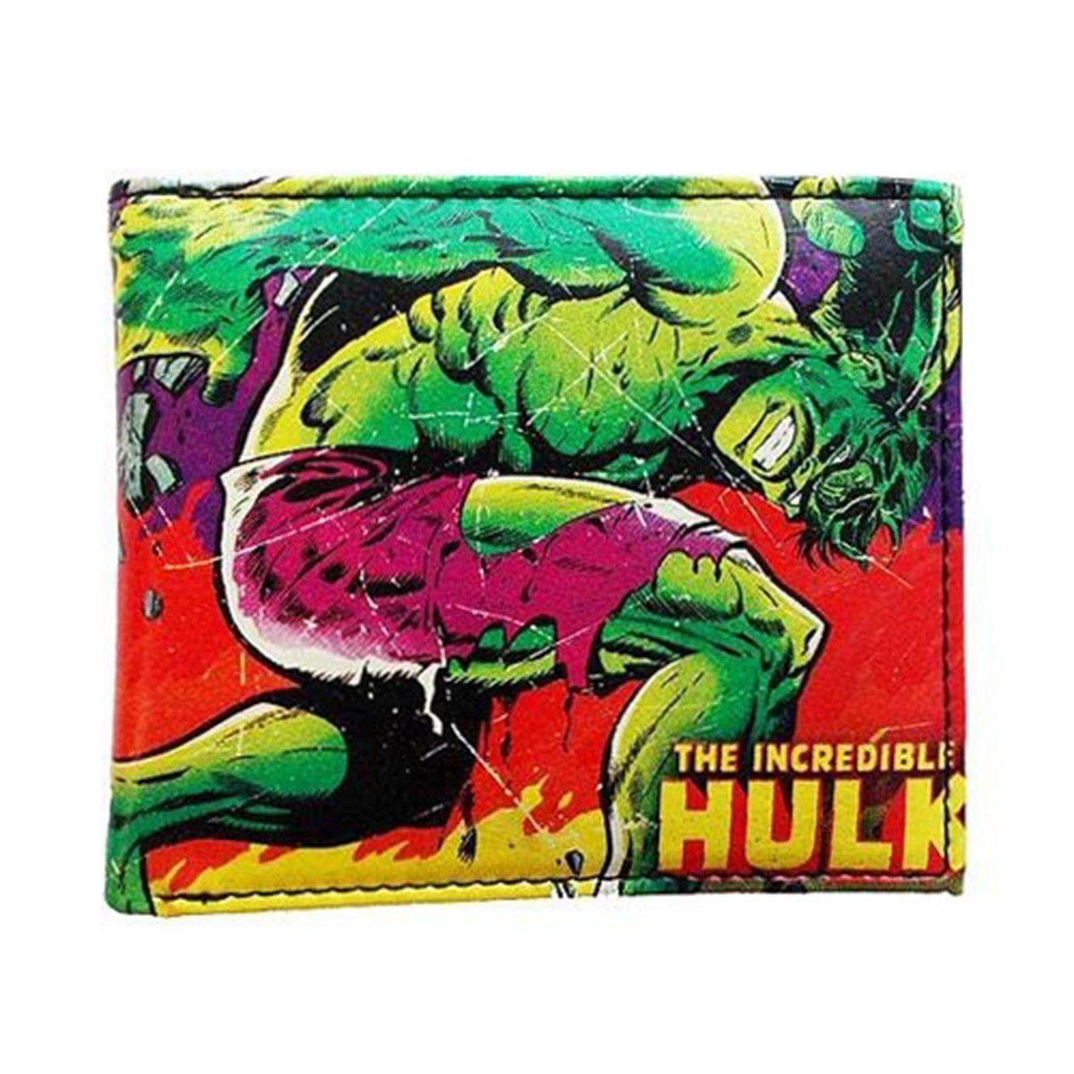 Marvel comics close up hulk bifold wallet the