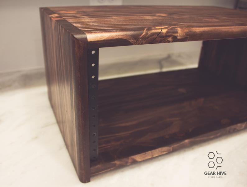 4u studio rack 15 depth solid wood