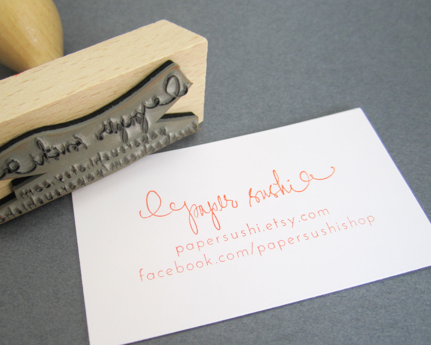 Business Card Stamp Custom 2 3/4 Business Card or by papersushi ...