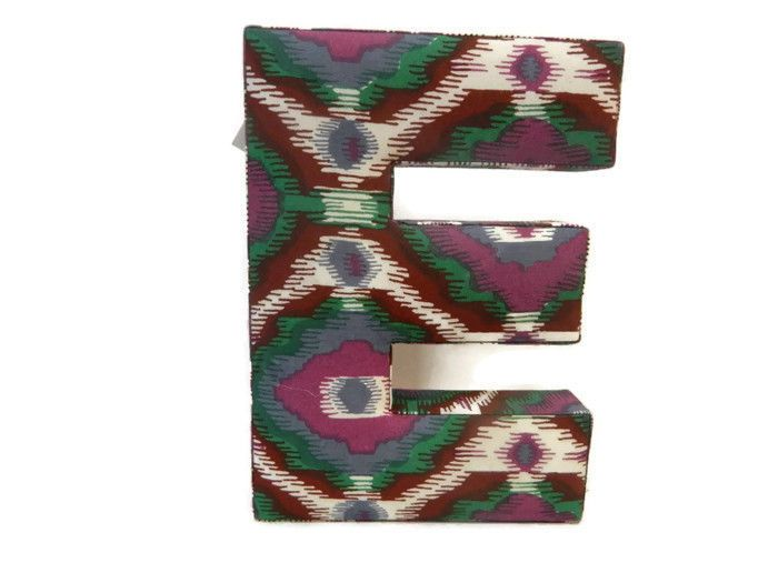 wall hanging letters fabric alphabet letter e purple make market new