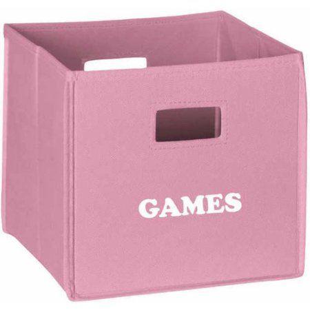 RiverRidge Folding Storage Bin, Games, Pink