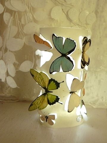 this diy butterfly lamp is a great addition to a flower or butterfly themed nursery