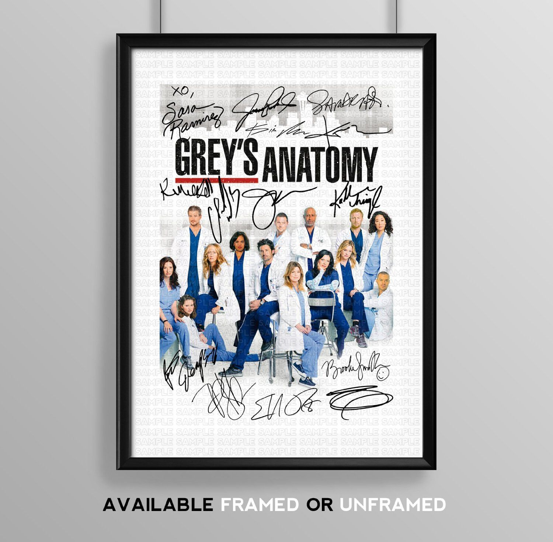 Greys anatomy cast signed autograph signature autographed