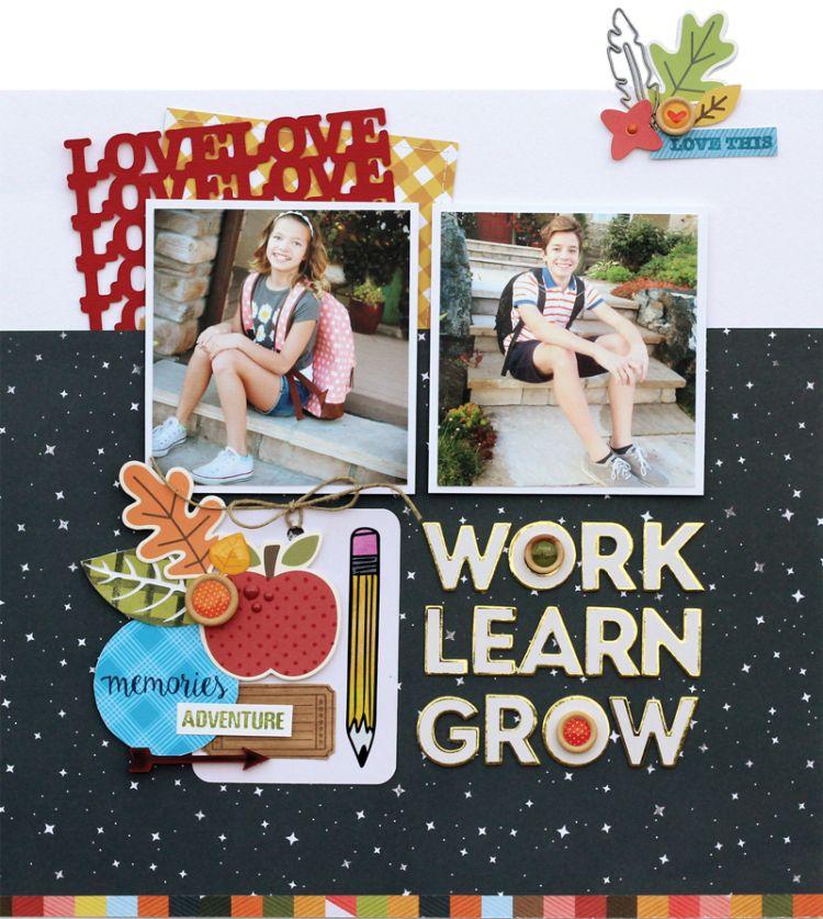 Work Learn Grow | Lisa Dickinson for @sctmagazine  . Fall 2016 Scrapbook Kits