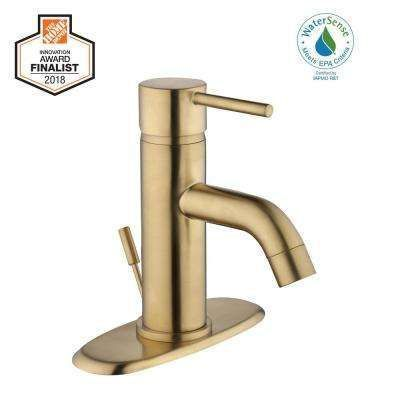 50 100 Brass Gold Single Handle Bathroom Sink Faucets