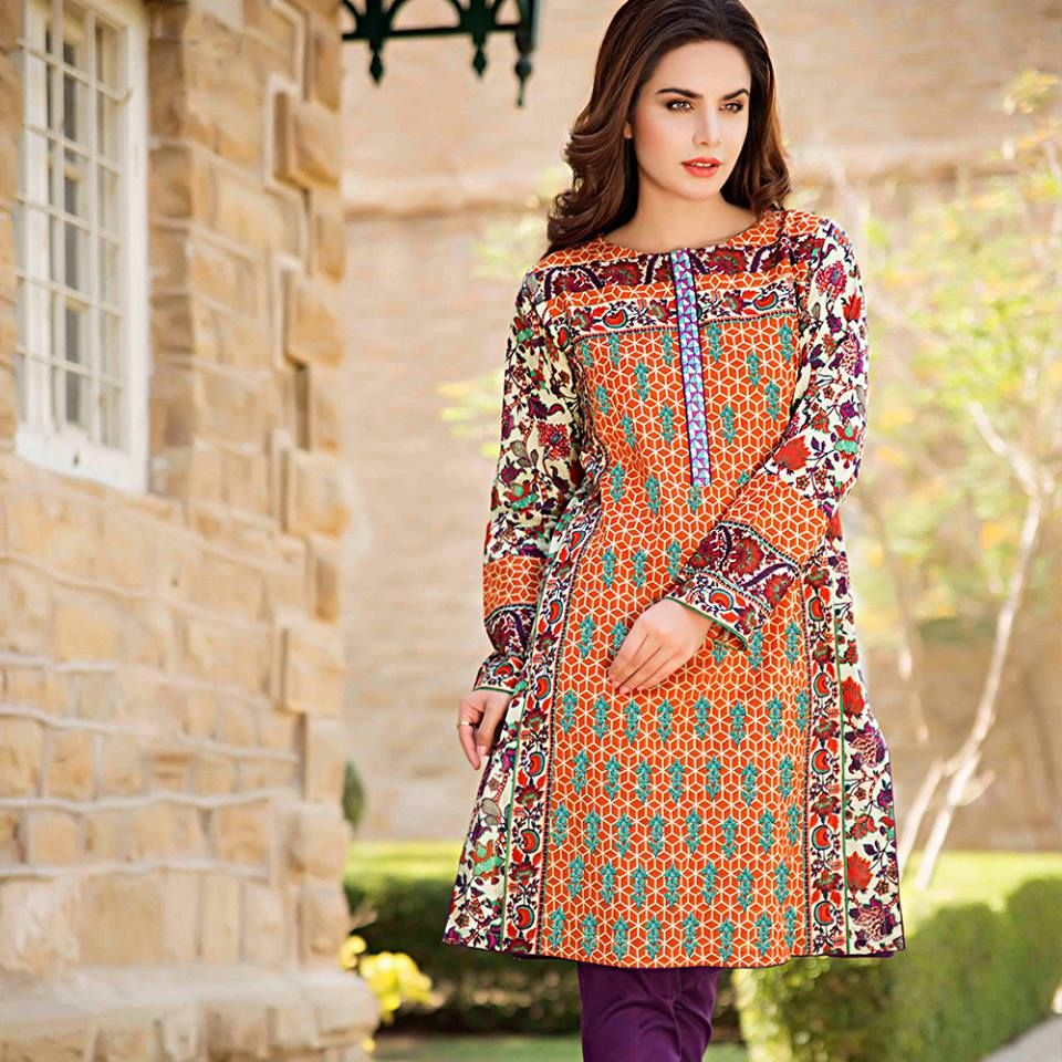 26f8be0cef Latest Trends of Summer Lawn Kurtis Designs Collection for Women 2015-2016  (17)