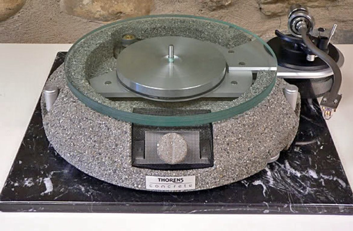 Thorens Concrete turntable. | Hifi turntable, Turntable record player,  Turntable
