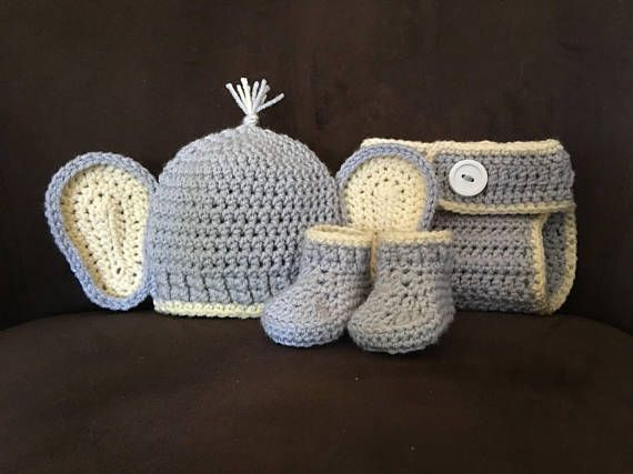 Elephant Newborn Outfit Baby Shower Gift Elephant Costume Newborn Photo Prop Baby Crochet Outfit Baby Elephant Outfit Crochet Elephant & Elephant Newborn Outfit Baby Shower Gift Elephant Costume Newborn ...
