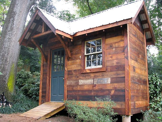 Garden Shed from Reclaimed Materials Garden and Outdoor