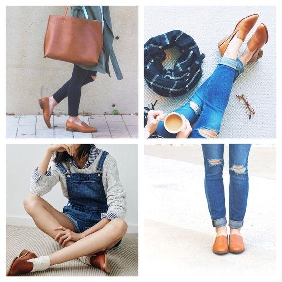 96778bddc94 Madwell tan low heel loafer