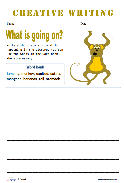 Short Story Topics Worksheets | English & Writing for Elementary ...