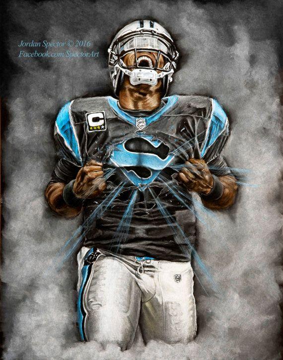 8f550603 Carolina Panthers - Cam Newton - Art Print - Superman - Wall Art ...