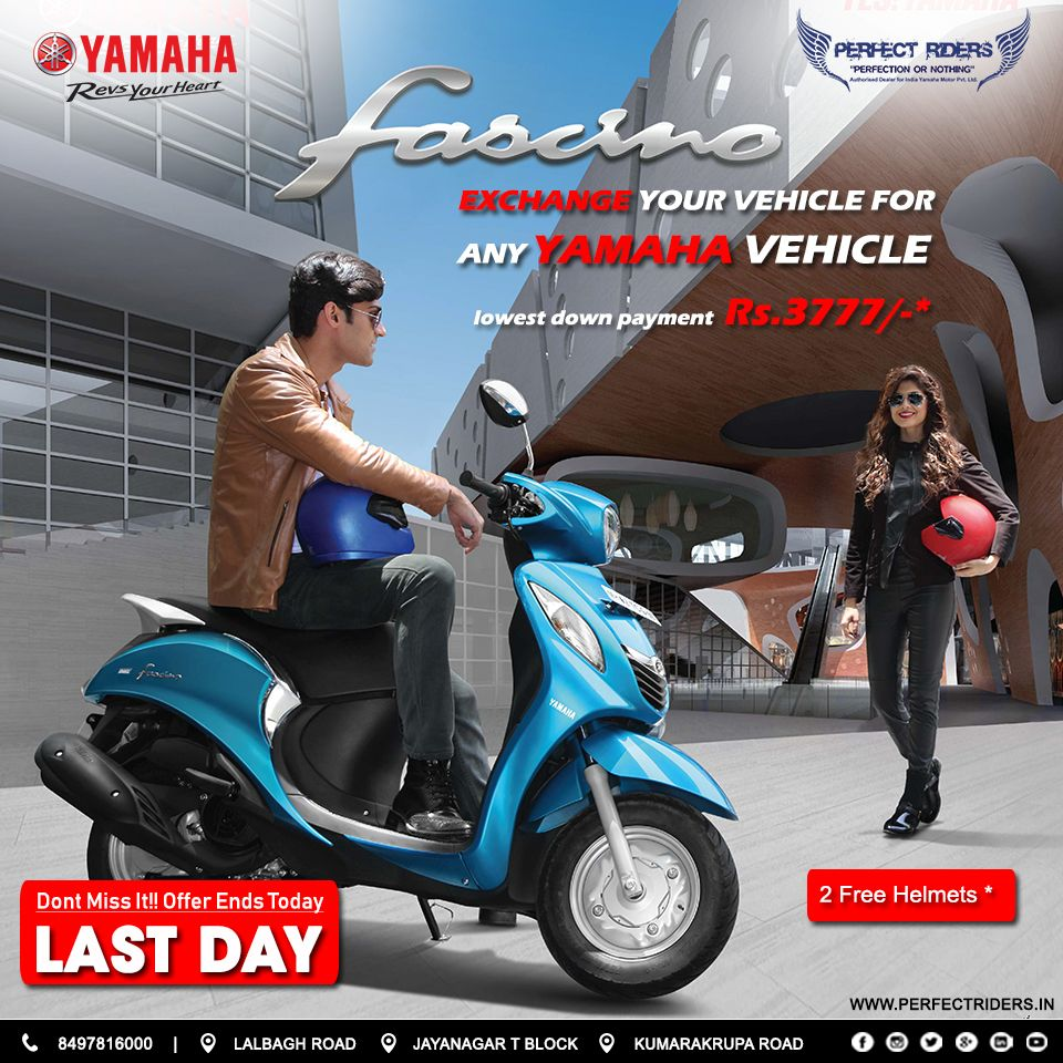 Hurry Up All New Yamaha Fascino At Perfect Riders With Exciting