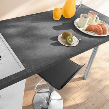 plan de travail stratifi gris ardoise pour booster sa cuisine - Revetement Adhesif Pour Plan De Travail De Cuisine