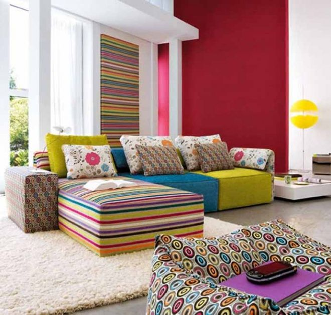 20 Inspiring Ideas Colorful Living Room Decoration with Upholstered