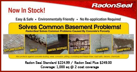 Products RadonSeal and RadonSeal PLUS> Eco Building Resource - Greater Toronto's only green building supply source. We serve Aurora, Newmarket, Markham, Barrie, Toronto, Mississauga, Brampton Durham and Eastern Canada...