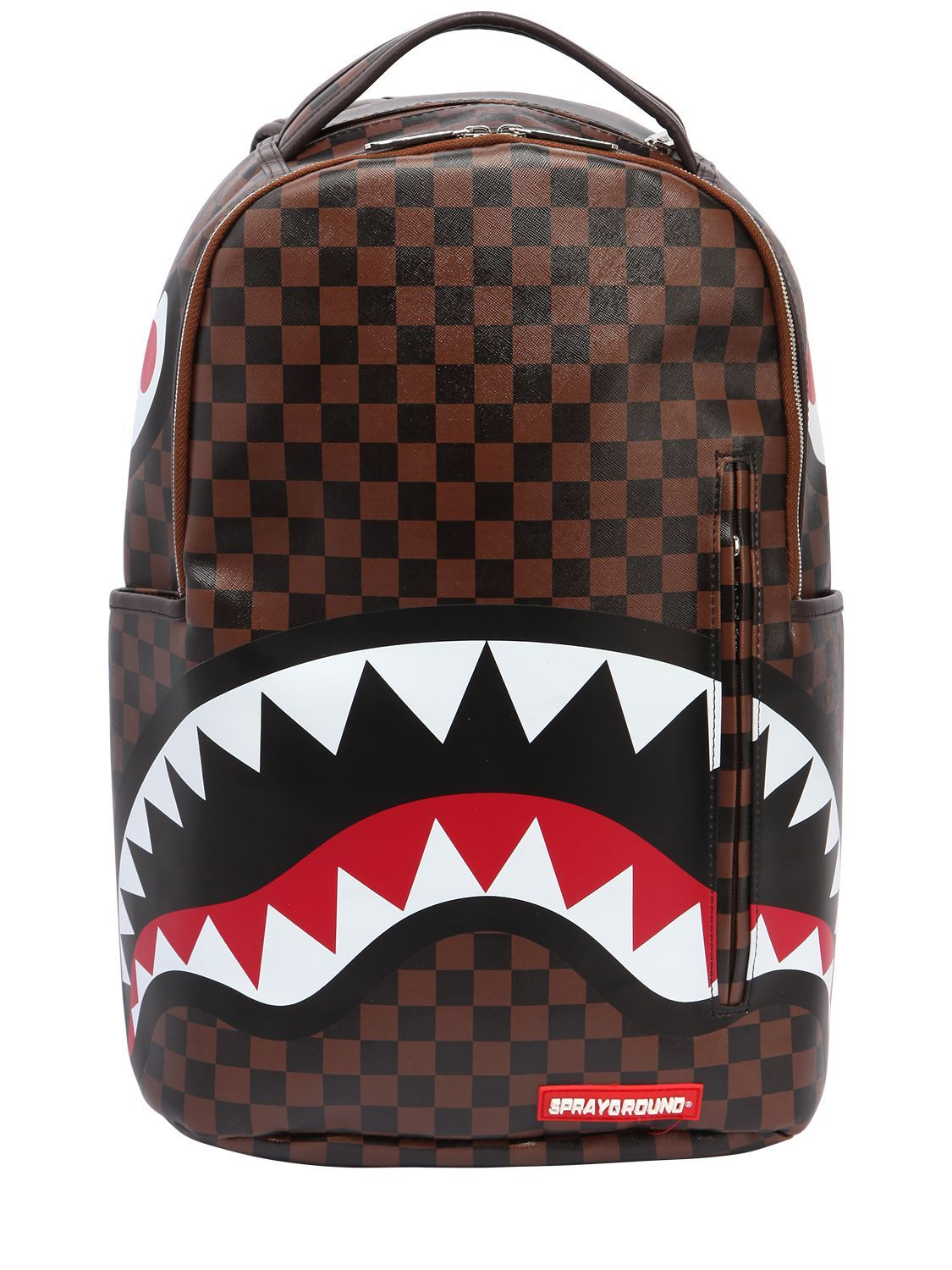 Sprayground Shark In Paris Faux Leather Backpack Bags Backpacks