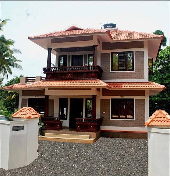 Square feet bedroom traditional kerala style double floor home design for lacks low budget also rh za pinterest