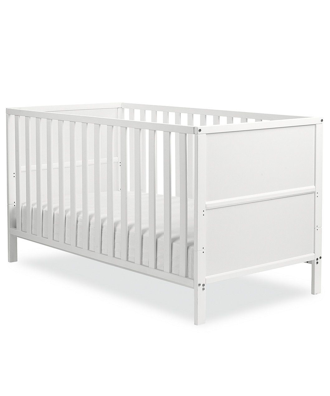 NEW BABY ISABELLA COT BED Grey /& Pocket Sprung Mattress//Quilted Topper.