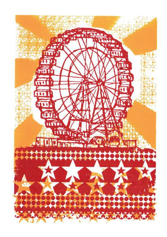 "4.5 x 6.25"" / Ferris Wheel Journal / Journals from L2 Design Collective"