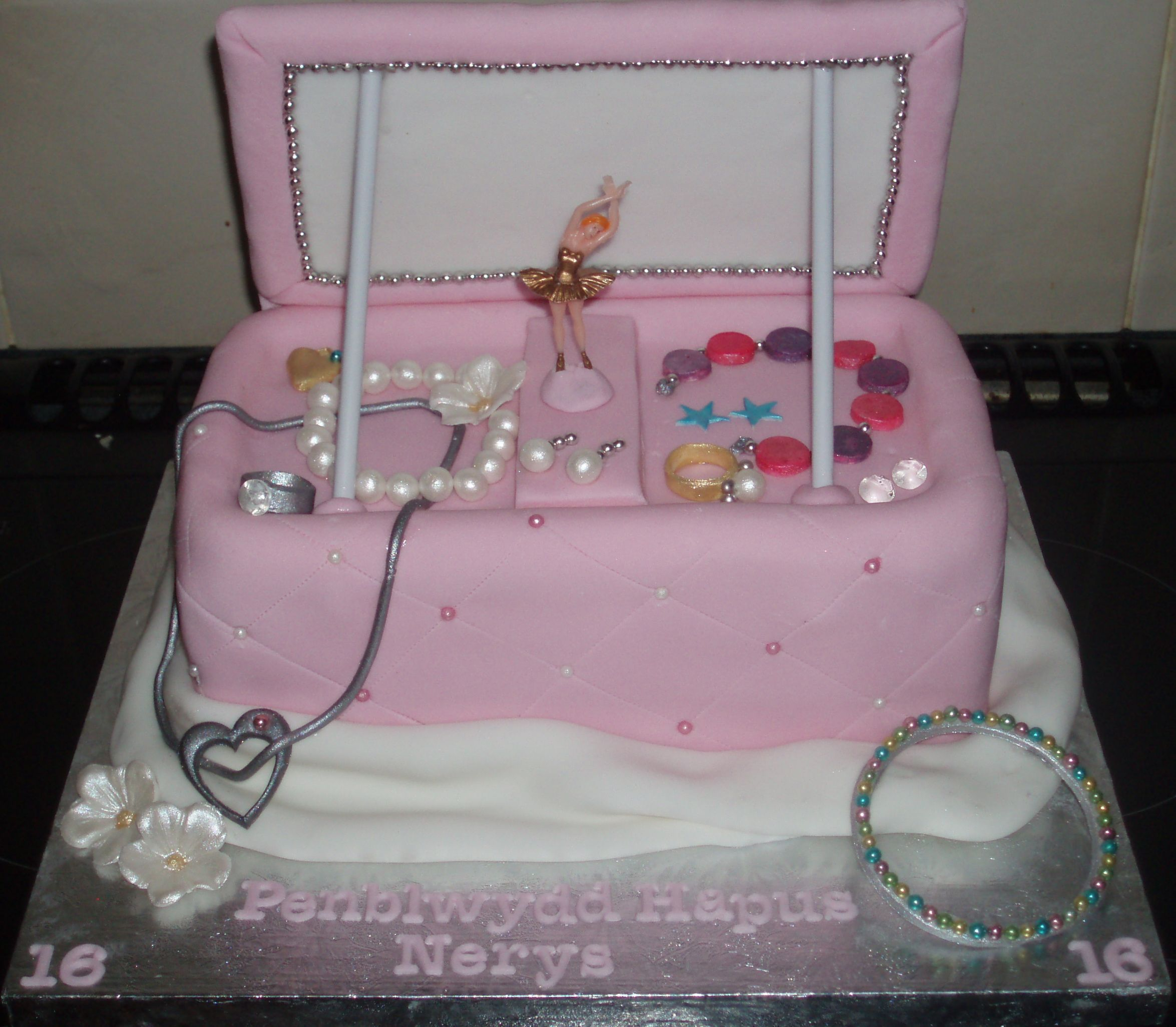 Jewelry box cake all the jewelry is hand made and edible Edible