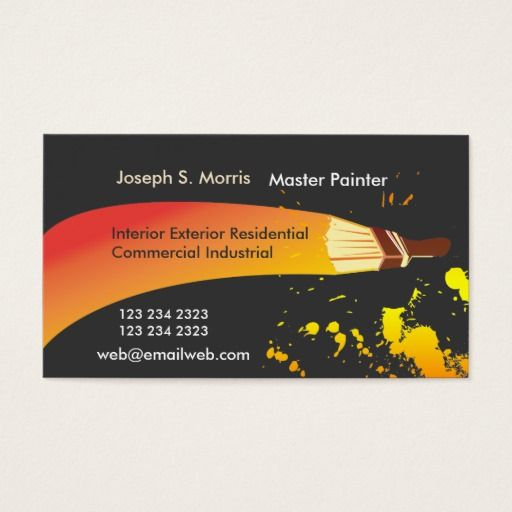 Pin by katiescollect business cards store on painter business color house painter artistic brush business card colourmoves