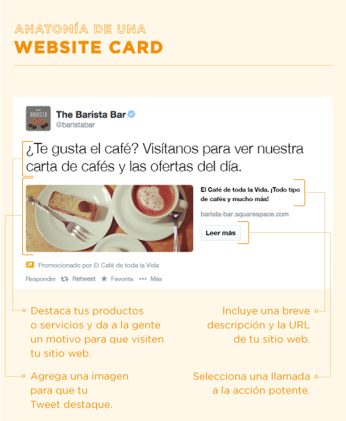 Anatomía de una #Website #Card de #Twitter | Social Media ...