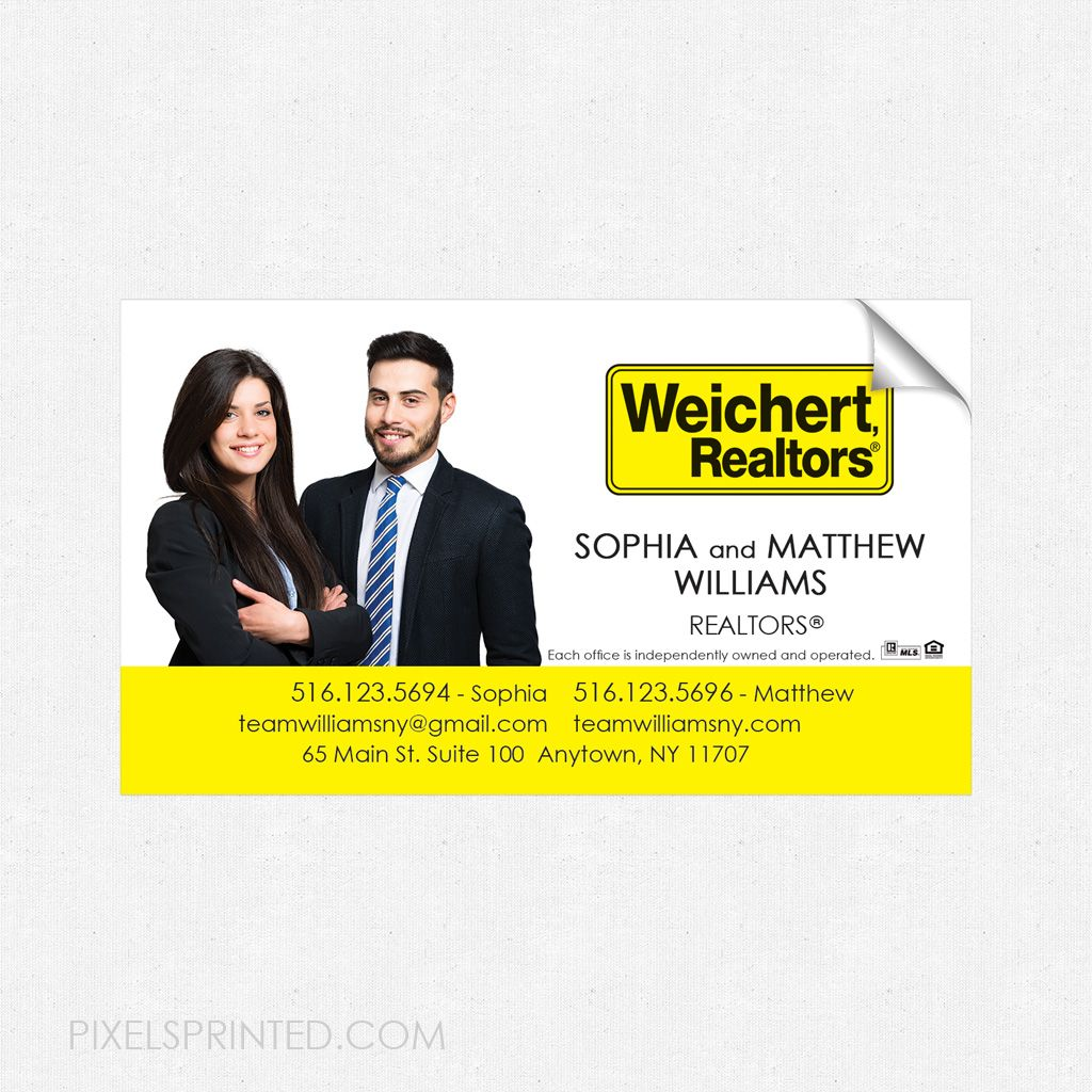 Magnetic stickers for business cards best business cards weichert business card sticker real estate magicingreecefo Choice Image
