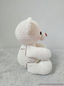 Urso Teddy | Amigurumi Brasil – AmiBR | Ursos de pelúcia de crochê ... | 280x210