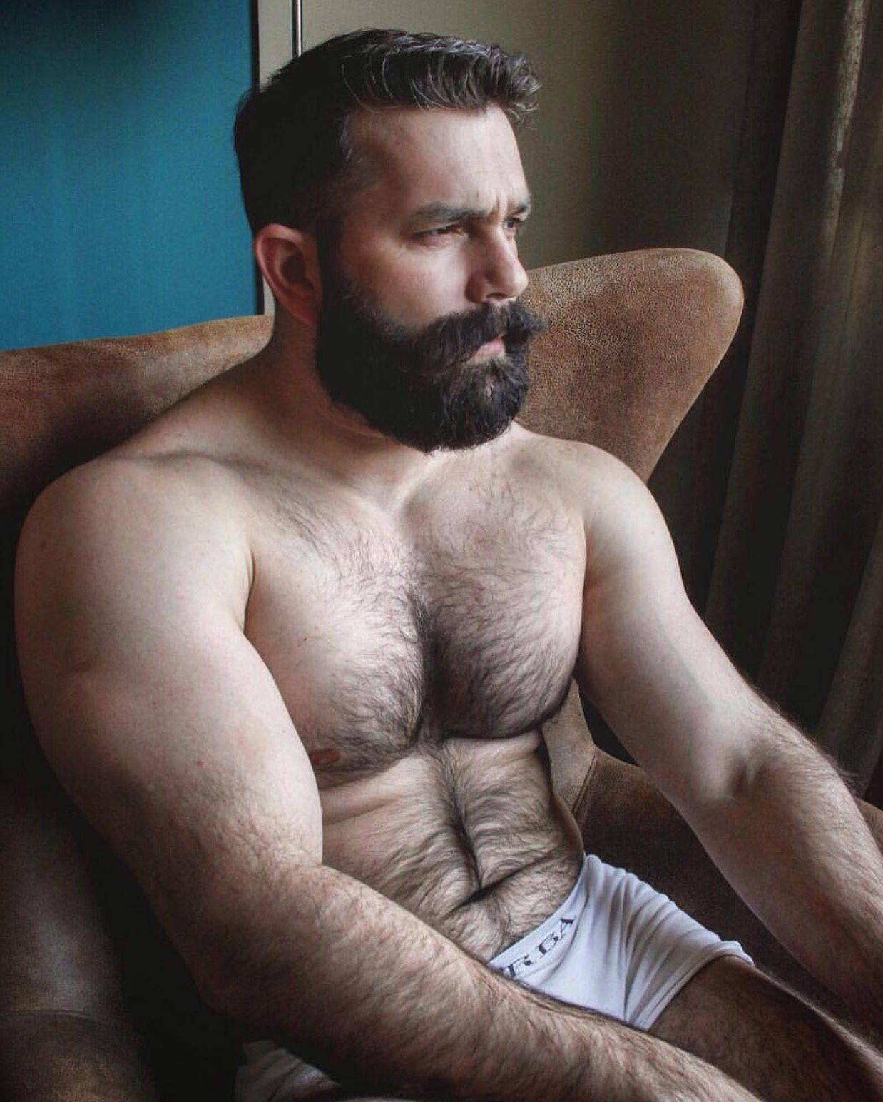 Me Guy Man Smile Fun Feelinggood Motivation Funday Bear Bearded Hunk Scruff Manwithbeards Photo Underwear Noshavenovember November