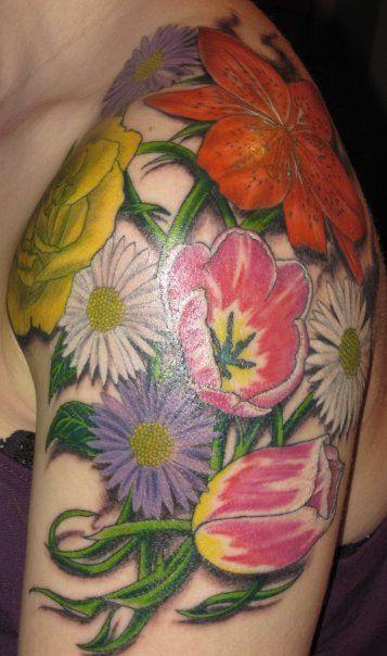 Flower shoulder piece