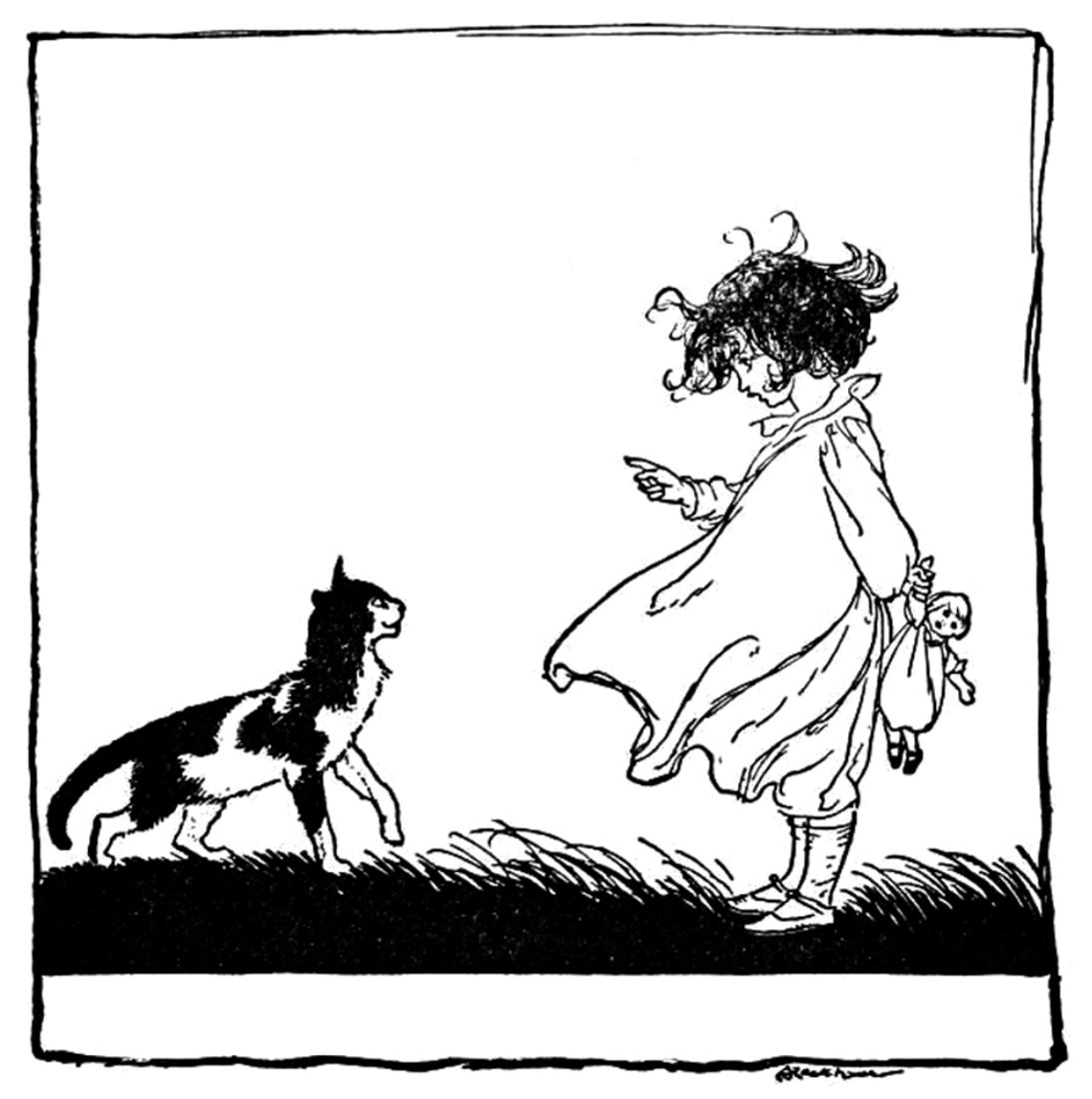 Art By Arthur Rackham From The Book Old Nursery