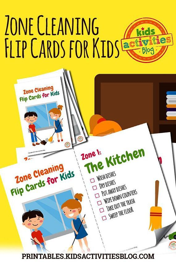 These printable chore charts for kids take zone cleaning to the next level they  re perfect creating flip cards that will make also chart family activities rh pinterest
