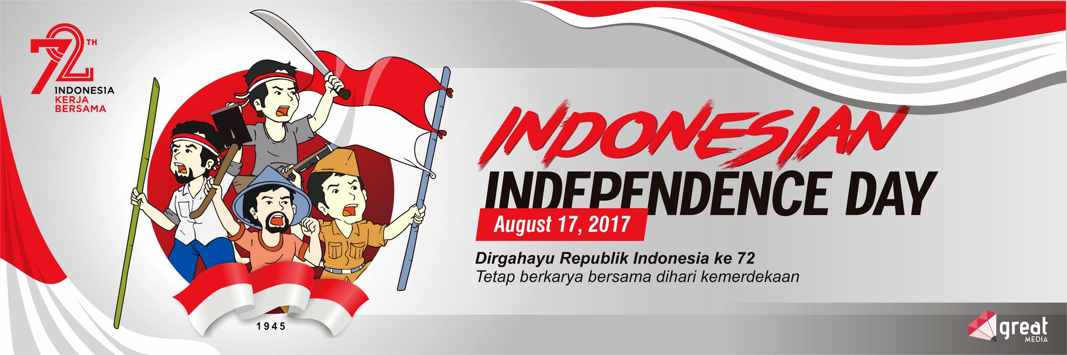 Spanduk Kemerdekaan Indonesia ke 72 Open Order Azmil's