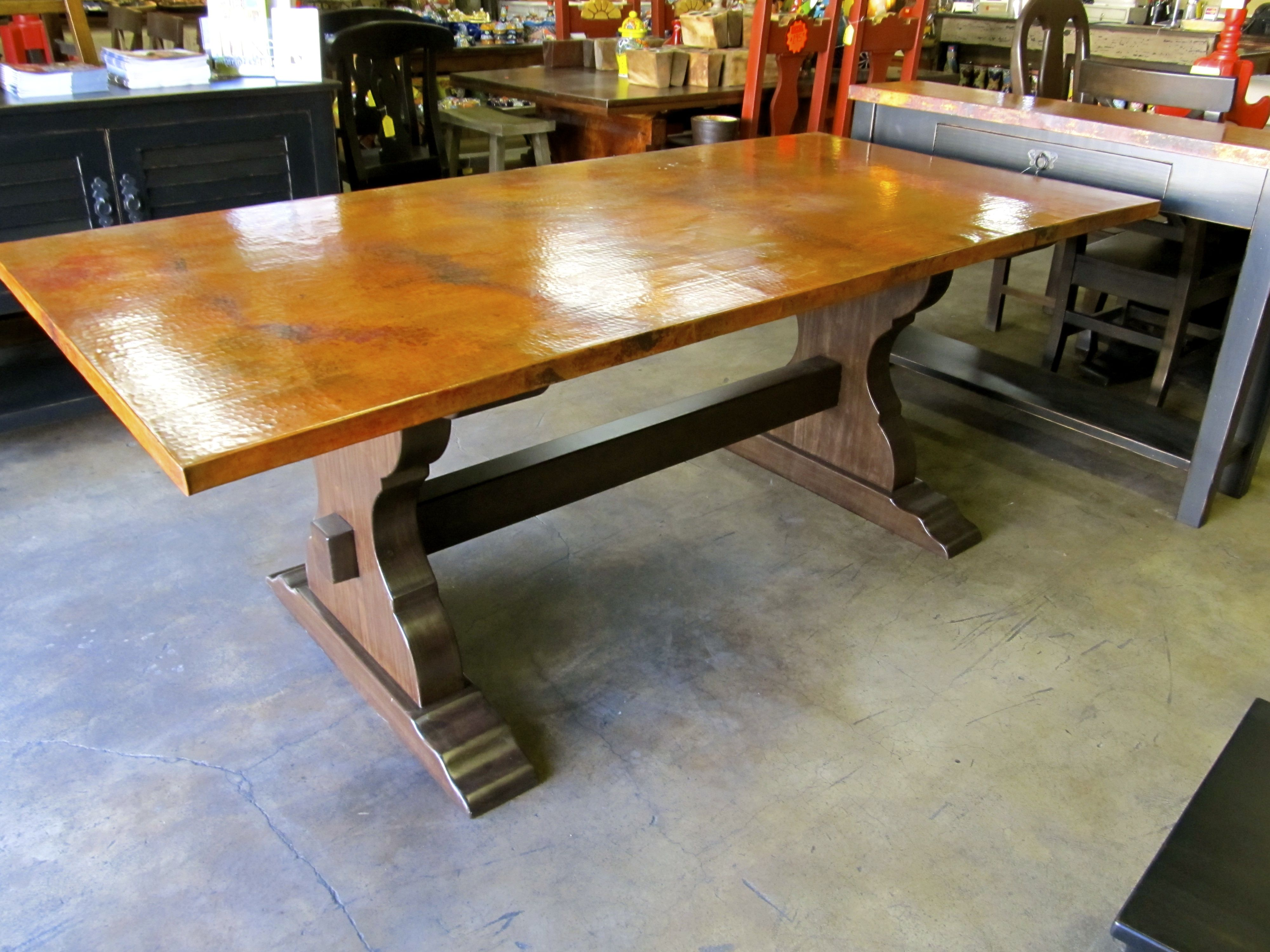 Oval Copper Top Dining Table Copper Table Top 78 X 48 X 1 5