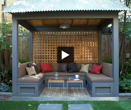 Multifunctional backyard backyard house multifunctional for Garden cabana designs