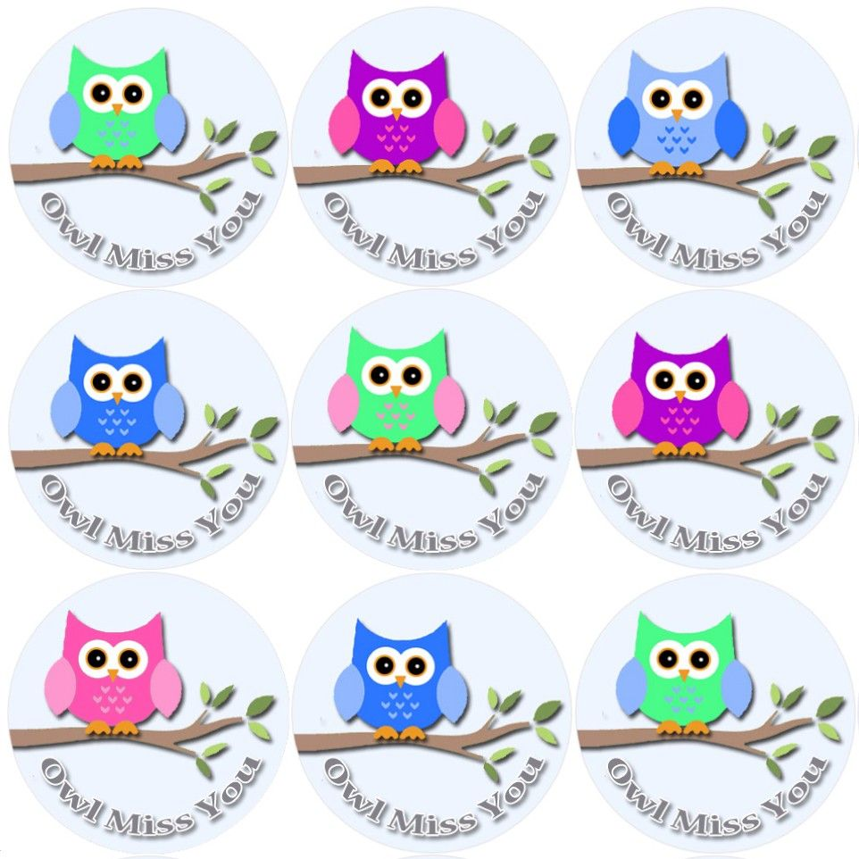 P These Owl Miss You Themed Reward Stickers Are Perfect To Make A