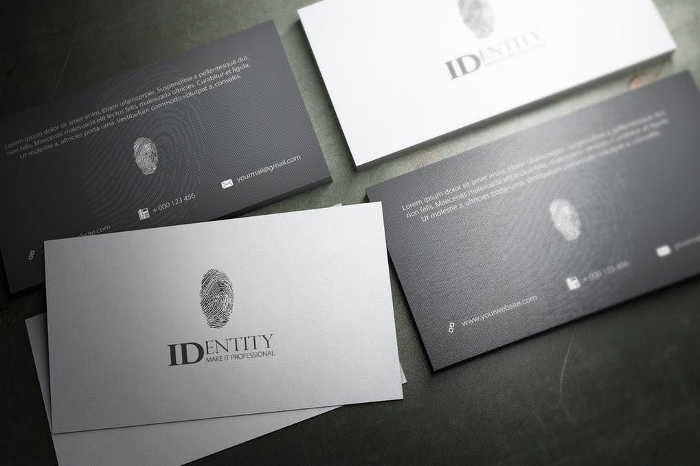 Thumbnail for Identity Business Card Design Business