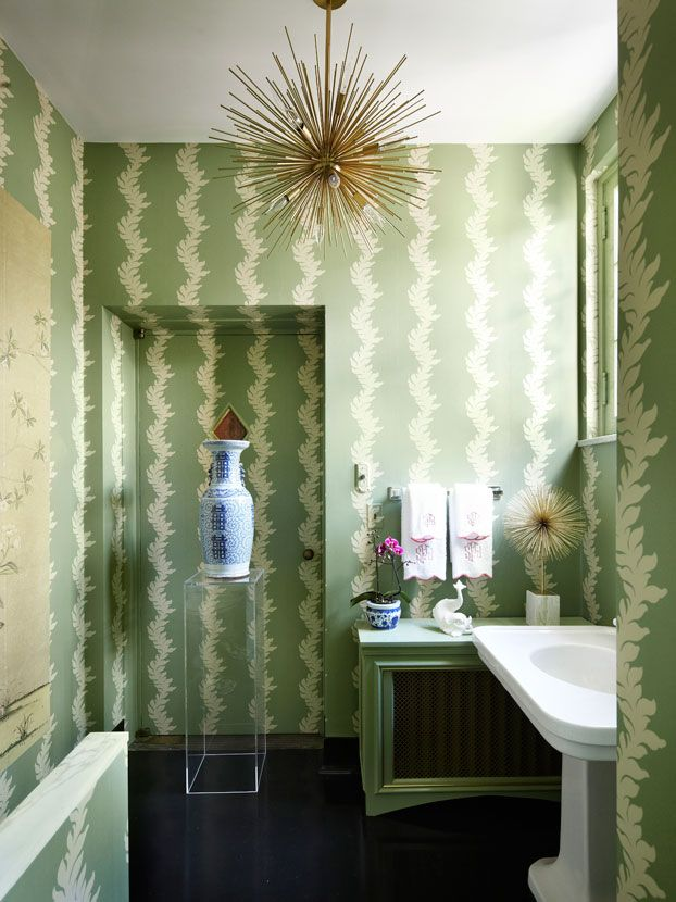 Well Designed Green Powder Room Lounge Wellness Design Room