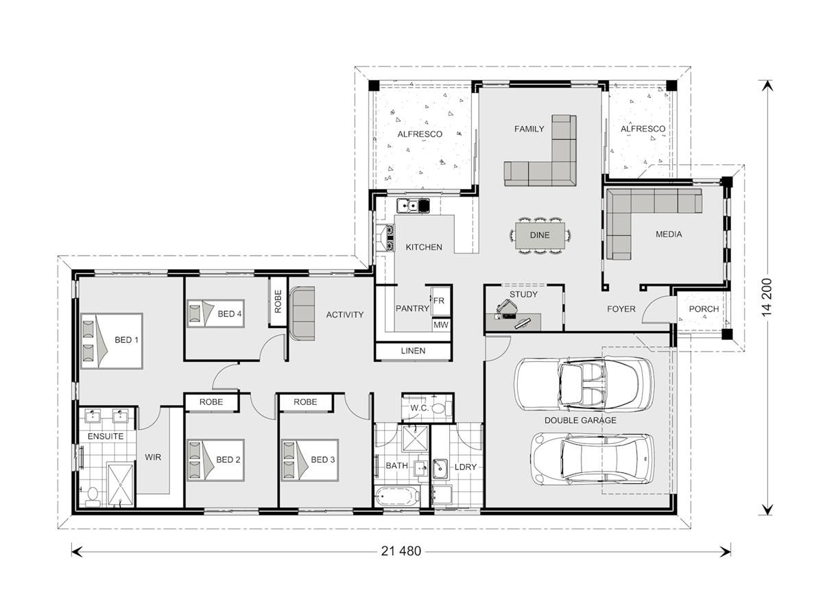Parkview 290 - Element, Home Designs in | G.J. Gardner Homes ...