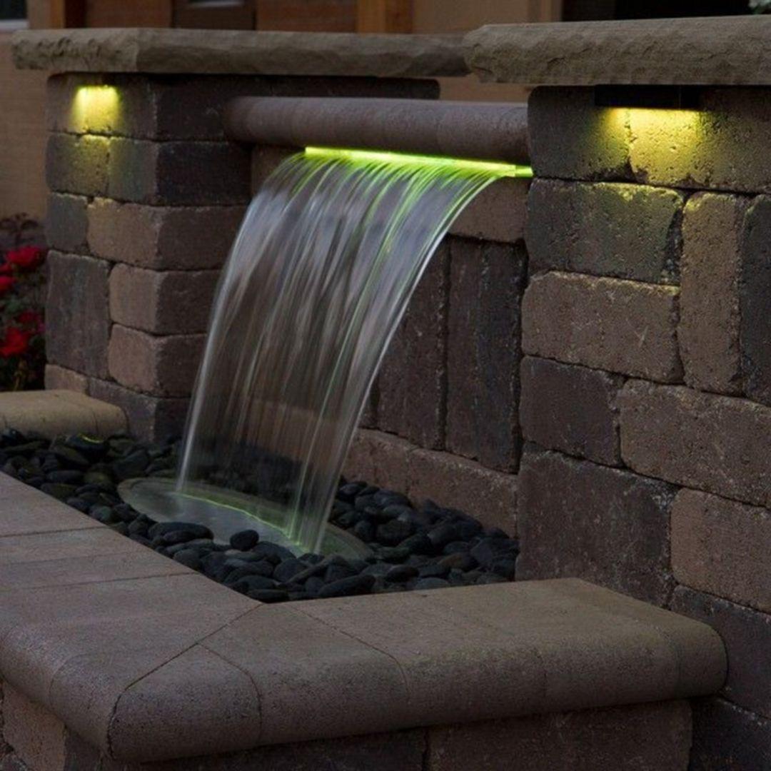 14 Breathtaking Feminine Minimalist Bedroom Ideas Water Fountain Design Fountains Outdoor Waterfalls Backyard Minimalist modern outdoor water wall fountain